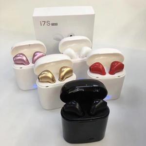 Iphone IOS için Şarj Kutusu Şarj Kılıf Kulaklık Bluetooth Kablosuz 4.2 müzik Araç Kulaklık ile Toptan popüler i7s TWS Kulaklık