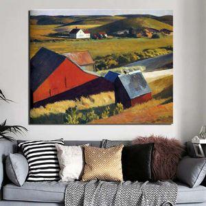 Edward Hopper Distant Maisons toile Peinture Imprimer Salon Décoration murale Art Moderne Peinture à l'huile Affiches Photos HD