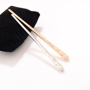 2020 nuovi capelli Semplice sposa Capelli lunghi Pin Pin di capelli del metallo del bastone Oro Argento Fork Accessori