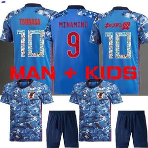 Japonês jersey longe JAPAN 2019 2020 TSUBASA Futebol Copa do Mundo Jersey Japão ATOM 19 20 Casa Fora jerseys KAGAWA OKAZAKI Hasebe Futebol