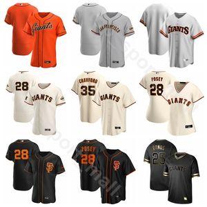 2020 Baseball 57 Dereck Rodriguez Jersey 34 Kevin Gausman 18 Drew Smyly 8 Hunter Pence 56 Tony Watson Flexbasis kühle niedrige Pinstripe orange