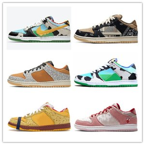 2020 Stock X platform shoe Chunky Dunky Dunk Men Women Designer sneakers Travis Scotts Panda Pigeo Raygun Tie Dye mens running shoes 36-45