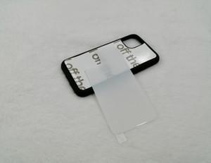 Fai da te di sublimazione BlankTempered vetro di caso di scambio di calore di stampa con il nastro adesivo per iPhone 11 pro max XS MAX XR XS 7plus 6 7 8 100pcs / lot