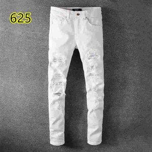 2019 top quality 021 amiri Jeans известный бренд дизайнерские джинсы мужская мода уличная одежда мужские байкерские джинсы мужские брюки
