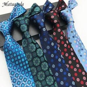 Brand Matagorda Silk Tie 8Cm Geometry Floral Neckwear for Wedding Party Boyfriend Gifts Men Necktie Paisley Cashew Tie Gravata