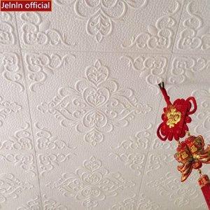 Rosa adesivi murali autoadesive soggiorno soffitto adesivi autoadesivo decorativo della gomma piuma impermeabile del tetto carta da parati
