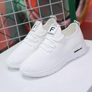 scarpe da corsa transfrontaliera grandi le scarpe da tennis delle donne volare tessitura piccole donne versatile fondo piatto Lace Up coreani scarpe casual tripla qq