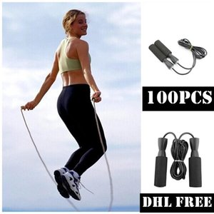 DHL Free 100pcs Bearing Skip Rope Cord Speed Fitness Lose Weight Gym Exercise Equipment Adjustable Boxing Skipping Sports Jump Rope FY6160