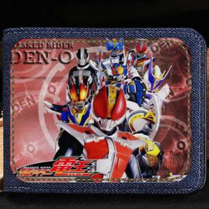 Maskeli Rider cüzdan Kamen çanta Karikatür Den o kısa nakit notu durumda Para notecase Deri jean çanta çanta Kart sahipleri