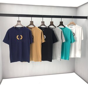 2020ss printemps et en été nouveau T-shirt panneau col rond manches courtes en coton impression de haute qualité Taille: m-l-TG-TTG-XXXL Couleur: 39F noir blanc