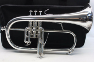 BACH 183 Bb Trumpet Flugelhorn Brass Silver-Plated B Flat Trumoet Flugelhorn Professional Musical Instrument with Accessories Case