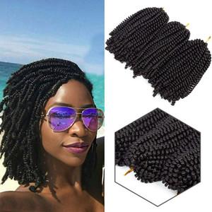 Nuevo estilo 8 pulgadas Spring Twist Crochet Hair Kinky Trenzado sintético 1pack Crochet Braids Extensiones de cabello Synthetic spring twist braids