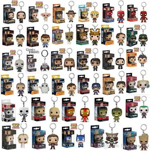 Funko POP Keychain Harry Potter Marvel Super Hero Harley Quinn Deadpool Goku Spiderman Joker Game of Thrones Figurines Jouet