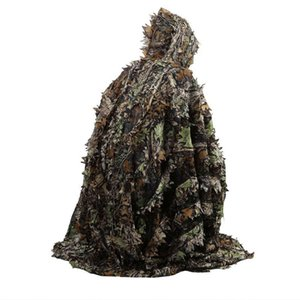 Hunting Camo Folha 3D encobrir Yowie Ghillie respirável Abrir Poncho Tipo Camouflage Birdwatching Poncho Windbreaker Sniper Suit engrenagem