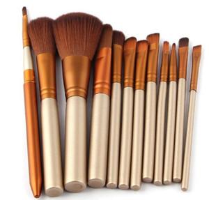 epacket spedizione gratuita nuovi strumenti di trucco di marca morbidi capelli sintetici pennello professionale per ombretto pennello per ombretto (12 pz pennello / set)