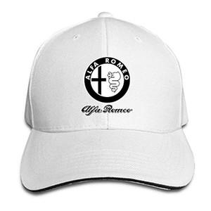 Disar-t-Unisexjustierbares Sandwich-Baseball-Cap Alfa Romeo Logo Sommerhut 7 Farben Hip Hop gepaßte Kappe Mode
