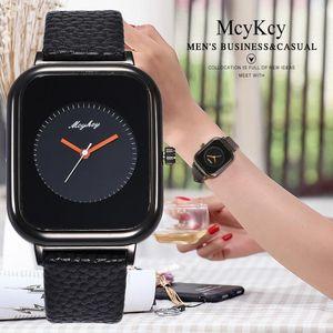 Clock Women Fashion Ladies' Watch Rectangular Dial Snakeskin Leather McyKcy Women's Quartz watches dames horloges
