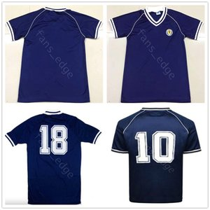 1982 World Cup Retro Scotland Soccer Jerseys Dalglish Strachan Miller Souness Hansen George Wood Custom Home Blue 82 83 Football Shirt
