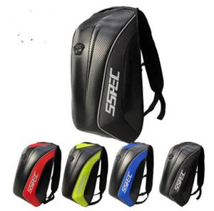 sspec 브랜드의 새로운 오토바이 배낭 탄소 섬유를 타고 가방 방수 오토바이 하드 쉘 가방 다인 모토 가방