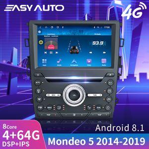 Voiture Radio Stéréo Pour Mondeo / Fusion 2015-2019, Multimédia Lecteur vidéo au tableau de bord Navigation GPS Android 8.1 Double Din