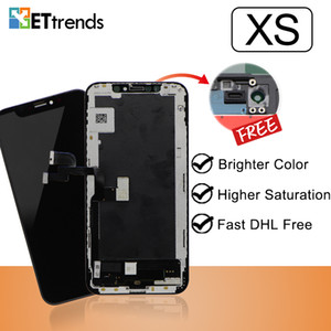 Reliable Quality Lcd Screen Assembly For iPhone XS with Brightness Color DHL Free Shipping Lifetime Warranty