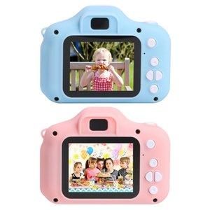 Punto barato Shoot s linda cámara de la pantalla de la cámara HD del regalo de los niños a prueba de agua pantalla 1080P HD cámara de vídeo de dibujos animados de juguete de los niños