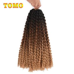 TOMO Passion Giros Spring sintético Crotchet extensiones de cabello Ombre ganchillo trenzas de fibra pre bucle mullido tuerce a granel Hair Braiding