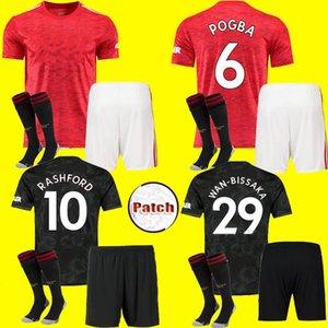 uomo bambini kit 2020 2021 manchester RASHFORD B. FERNANDES Pogba calcio del pullover MARZIALI camice della Jersey di gioco del calcio unite 20 21 uniformi UTD