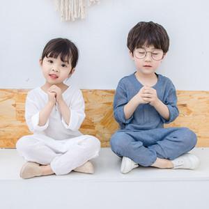 vestito vecchio di svago 2020 nuovi 3-8 anni per il vestito ragazzi e le ragazze estivo per bambini in stile cinese hanfu due pezzi per bambini