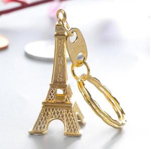 Tour Eiffel Keychain estampillé Paris France Bronze Or Sliver cadeaux porte-clés fête de Noël Faveur Fashion Nouveauté Gadget cadeau LXL920Q