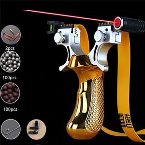 Caccia Esterna Slingshot laser con l'obiettivo di fionda con elastico piatto di alta precisione tiro Sling shot