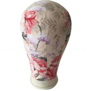 22-Zoll-Leinwand Korkblock Manikin Mannequin-Kopf-Modell für Haar-Verlängerung Toupet Spitze-Perücke machen Styling Cap-Ausstellungsstand
