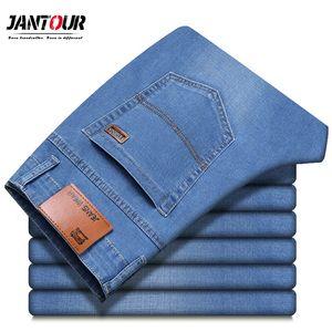 Jantour Marque 2019 Nouveaux Hommes Slim Élastique Jeans Mode D'affaires Style Classique Skinny Jean Denim Pantalon Pantalon Mâle