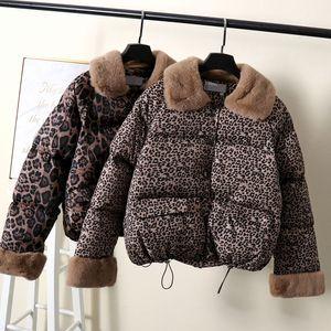 Cappotti con collo in pelliccia MUMUZI 2019 del cotone delle donne di nuovo stile di modo delle donne di marca imbottito Autunno Giacca parka giù cappotti imbottiti