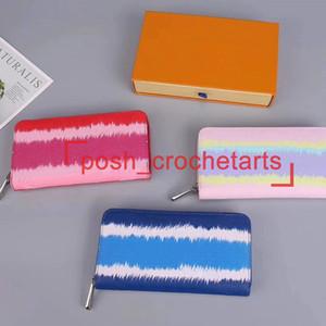 Kadın Pastel Moda Batik Cüzdan için Tasarımcı Batik Uzun Cüzdan Kadın Tasarımcı Cüzdanlar Kutu Lüks Küçük Deri Ürünler ile birlikte gelir