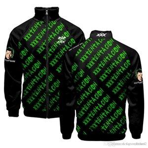 Stand Collar 19ss XXXTentacion Men Hoodies Teenager Baseball Letters Designer Sweatshirts Spring Autumn Clothing Pullovers