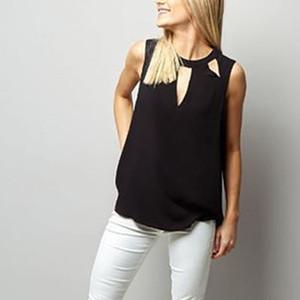 Модная рубашка без рукавов для леди CamiSetas Verano Mujer Feminina Одежда женская рубашка