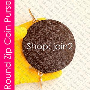 Multi-Pochette Accessoires' Round ZIP COIN bolsa do desenhador das mulheres Zippy Mini Organizador da carteira bolsa Cartão Chave de Charme Titular Cle Bolsa M44840