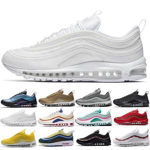 Max 97 Hommes Coussin récent de chaussures de course OG KPU plastique bon marché Formation Chaussures or blanc laser noir taille Chaussures de sport en plein air 36-45