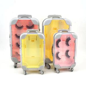 5pcs eyelash packaging box lash boxes packaging custom Mink Lash Box Lashes Tray Insert Eyelash Luggage