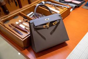 Epsom cilt 28cm, diğer birçok tasarlanmış çanta, büyük indirim cüzdan, hızlı teslimat ile toptan en kaliteli el yapımı greay Kelly çantası
