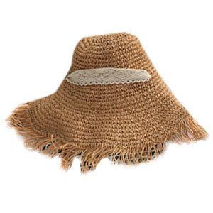 Collapsible Lace Strap Straw Hat Bow Wide Grass Female Summer Cap Beach Visor Outdoor Holiday Beach Sun Protection Hat