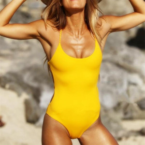 حار بيع مثير قطعة واحدة المايوه ضمادة عارية الذراعين النساء بيكيني المايوه مريحة بلون الصيف ملابس الشاطئ السفر