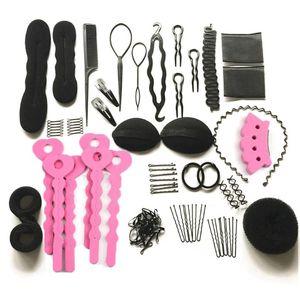 20pcs set Hair Styling Tools Magic Hair Bun Clip Maker Hairpins Roller Kit Braid Twist Set Sponge Styling Accessories