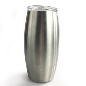 25 once bicchieri di vino in acciaio inox Bicchiere da birra con coperchio Calcio Tumbler bicchieri di vino a doppia parete bicchiere di trasporto