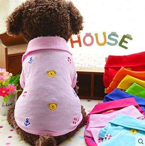 Çevre Dostu Yeni Giyim İçin Köpekler Yaz Karton Köpek Pet Gömlek Kedi Yelek Köpek Gömlek Yelek Pet Giyim XXS XS S M L