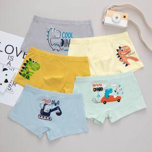 5pcs Crianças Calcinhas Bebé recém-nascido Underwear Boy Crianças bonito dos desenhos animados Imprimir Cotton Panties Boxer Briefs Shorts da criança