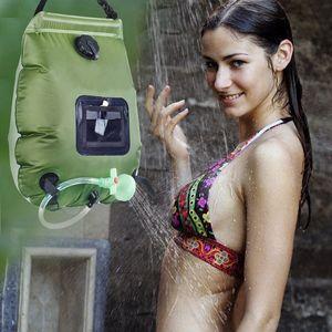 20L camping al aire libre ducha de agua bolsa de alpinismo que acampa solar Ducha Bolsa portátil de almacenamiento de agua del baño al aire libre bolsa no tóxico