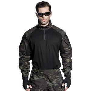 Camisa de Combate EUA Rmy G3 Airsoft Tático Paintball Caça Camisa Multicam Preto EMERSONGEAR