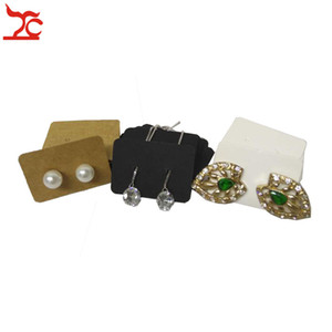 الجملة 1000PCS القرط عرض مجوهرات حامل بطاقة كرافت حلق مسمار التخزين المنظم حامل العلامة